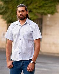 پیراهن مردانه راه راه مدل 0724