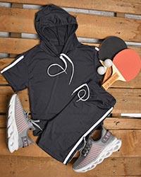 ست نیم تنه و شلوارک ورزشی زنانه مدل 0936