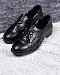 کفش پاشنه دار دخترانه پوست ماری مدل 0060