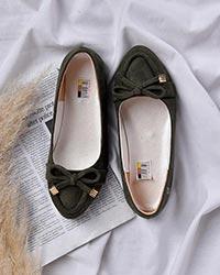 کفش تخت دخترانه سوئیت پاپیونی مدل 0302