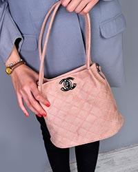 کیف دستی دخترانه گلدونی طرح لوزی  مدل 0393