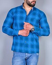 پیراهن مردانه چهار خانه جیب دار مدل 0424