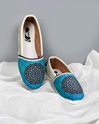 کفش تخت دخترانه سنتی چاپی مدل 0534