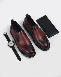 کفش تخت مردانه هشترگ BARCODE مدل 7090