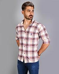 پیراهن مردانه چهار خانه polo مدل 9023