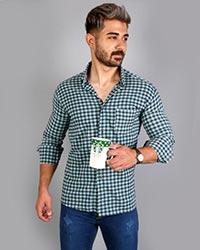 پیراهن مردانه چهار خانه ریز مدل 9024