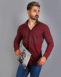 پیراهن مردانه بالا راه راه و نقطه چین مدل 9026