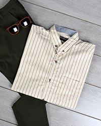 پیراهن مردانه راه راه مدل 0046