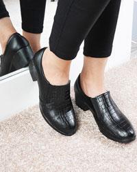 کفش پاشنه بلند زنانه سنگی مدل 1074