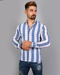 پیراهن مردانه چهارخانه ریز دو رنگ 7778