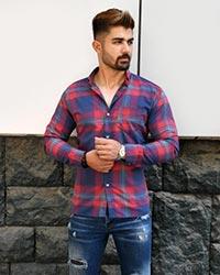 پیراهن مردانه چهارخانه جیب دار مدل 790