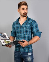 پیراهن مردانه چهارخانه جیب دار مدل 7794