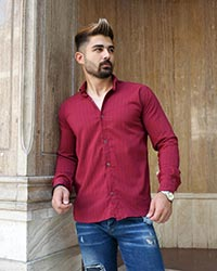 پیراهن مردانه راه راه مدل 0291