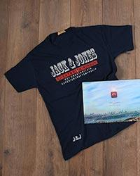 تی شرت مردانه نخ پنبه jack & jons مدل 5021
