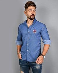 پیراهن مردانه طرح جین مدل 1426