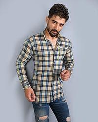 پیراهن مردانه چهارخانه تک جیب مدل 1570