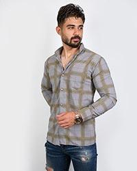 پیراهن مردانه چهارخانه هاشوری مدل 1572