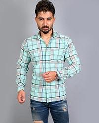 پیراهن مردانه چهارخانه تک جیب مدل 1573