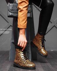 کفش نیم بوت زنانه پلنگی مدل 9715