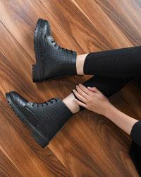 کفش نیم بوت سنگی زنانه مدل 9716