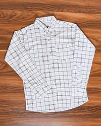 پیراهن مردانه چهارخانه شطرنجی تک جیب مدل 1679