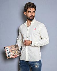 پیراهن مردانه طرح دار محو مدل 1695