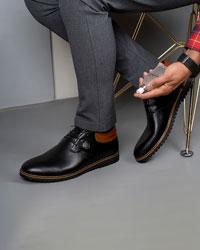 کفش نیم ساق مردانه رویه ساده مدل 1804