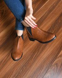 کفش نیم بوت زنانه بغل کشی قالب کوچک مدل 1824