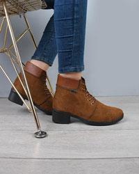 کفش نیم بوت زنانه پاشنه دار قالب کوچک مدل 1827
