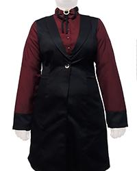 تونیک پاپیونی دخترانه کرپ مشکی طرح 3 Nice Dress