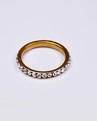 حلقه استیل نگین دار زنانه طلایی