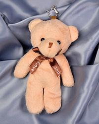 عروسک خرس آویز نسکافه ای+هدیه پابند پروانه