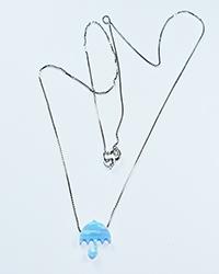 گردنبند سنگ اپال طرح چتر آمیتیس