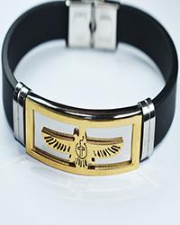 دستبند مردانه سیلیکونی طرح فروهر Amitis