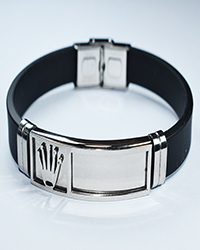 دستبند مردانه سیلیکونی طرح رولکس Amitis