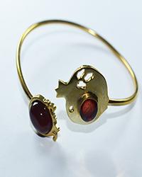 دستبند زنانه طرح النگو انار آمیتیس