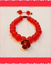 دستبند سنگ عقیق قرمز