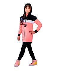 سویشرت دخترانه دولایه مغزی دوزی رویین تن پوش مدل 520