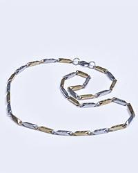 گردنبند مردانه استیل طلایی Versace