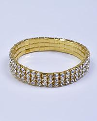 دستبند نگین دار کشی طلایی زنانه