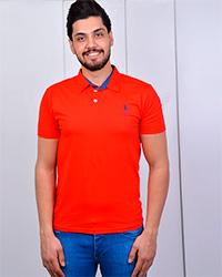 تی شرت  یقه دار مردانه  پنبه
