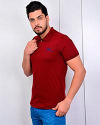 تی شرت مردانه یقه دار پنبه(نخ) مدل جوزف