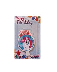 شمع تولد مدل اسب تک شاخ (یونیکورن)