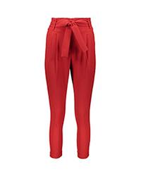 شلوار زنانه راسته پاکتی قرمز کد 258