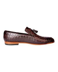 کفش چرم مردانه آرتاش مدل قهوه ای منگول