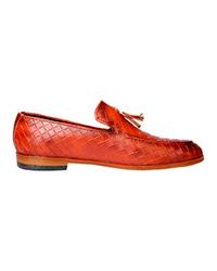 کفش چرم مردانه آرتاش مدل عسلی منگول