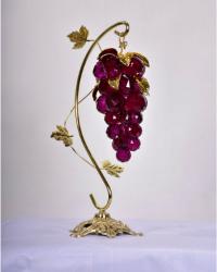 انگور تزیینی کریستالی پایه برنزی