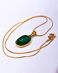 گردنبند طرح سنگ عقیق  سبز