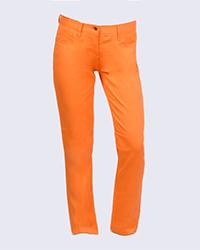 شلوار کتان دخترانه نارنجی