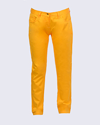 شلوار کتان زنانه لیمویی